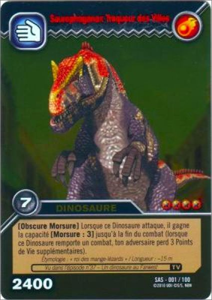 exemple de carte - Jeux De Dinosaure King